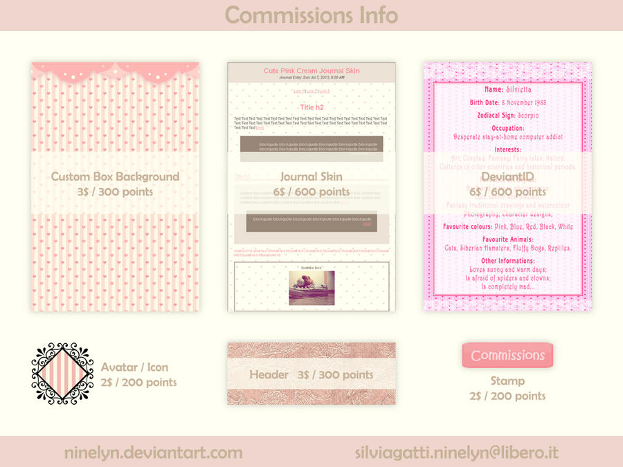 Web Graphics Commissions (open) by Ninelyn
