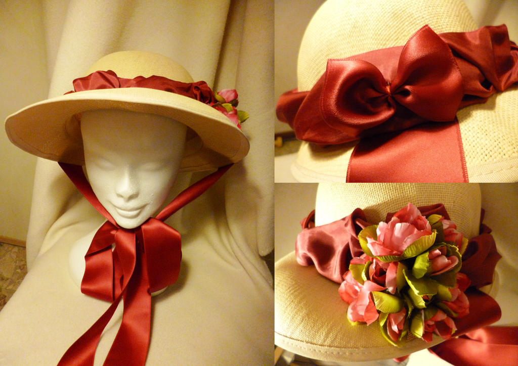 Hand Trimmed Hat by Ninelyn