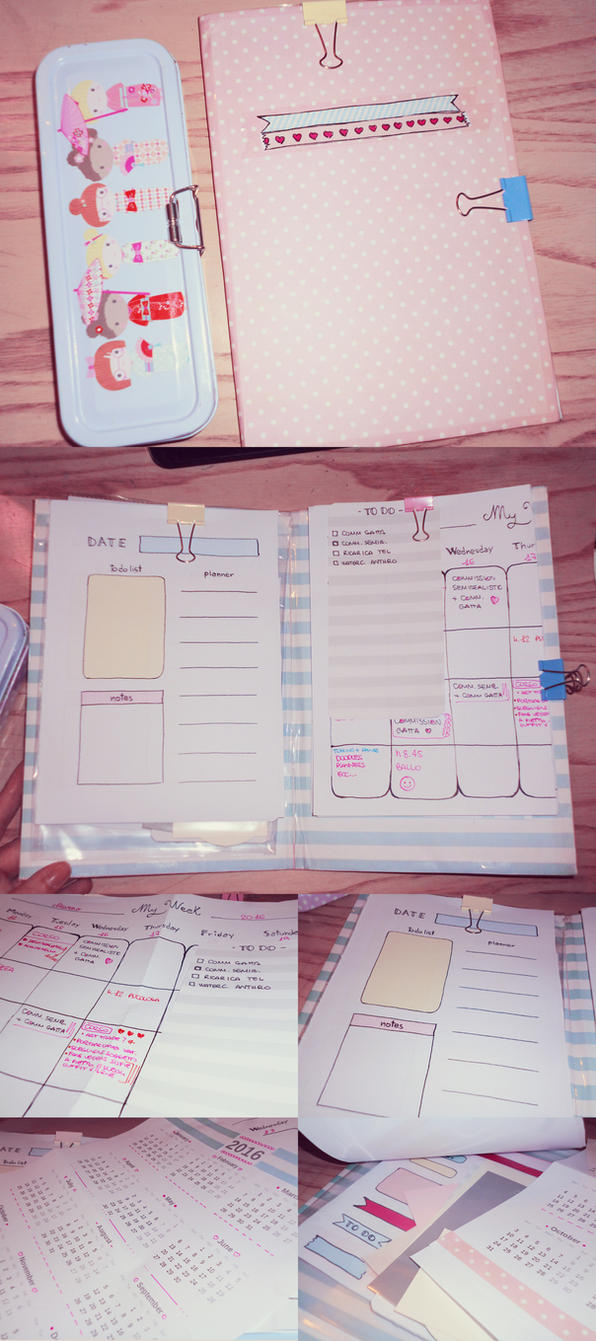 Calendar Planner Vb : My handmade planner by ninelyn on deviantart