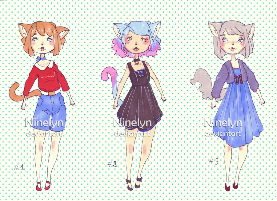 (REDUCED PRICE 2/3 OPEN) Neko Girls Adopts by Ninelyn