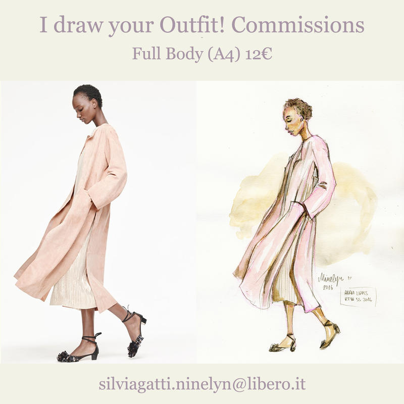 I draw your outfit! Commissions OPEN! by Ninelyn