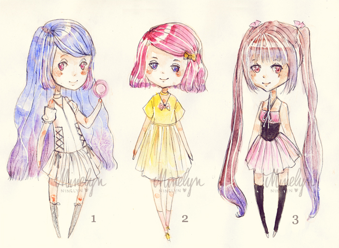 (OPEN) Gradient-Hair Adopts by Ninelyn