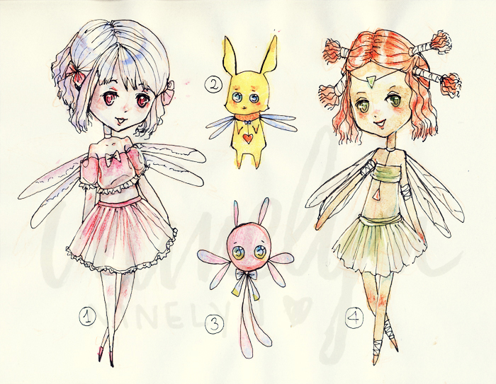 (REDUCED PRICE 4/4 OPEN) Fairy Adoptables by Ninelyn