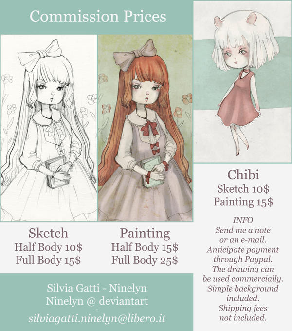 Art Commissions (OPEN) by Ninelyn