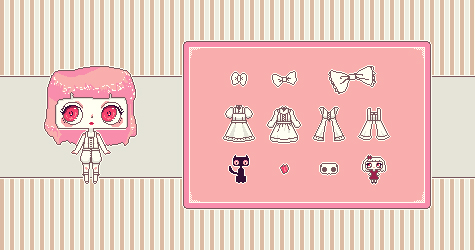 Allegra Dress-Up Mini Pixel Game (preview) by Ninelyn