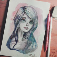 Watercolor Sketch by Ninelyn