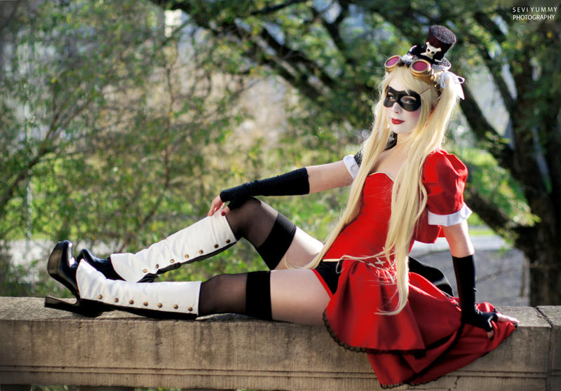 Harley Quinn Steampunk - Noflutter by Thecrystalshoe
