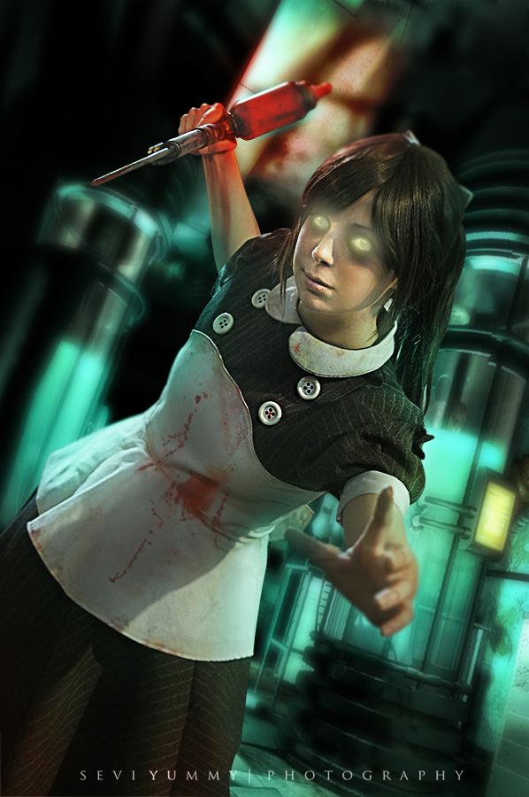 Little Sister Cosplay - Bioshock by Thecrystalshoe on ...  Bioshock
