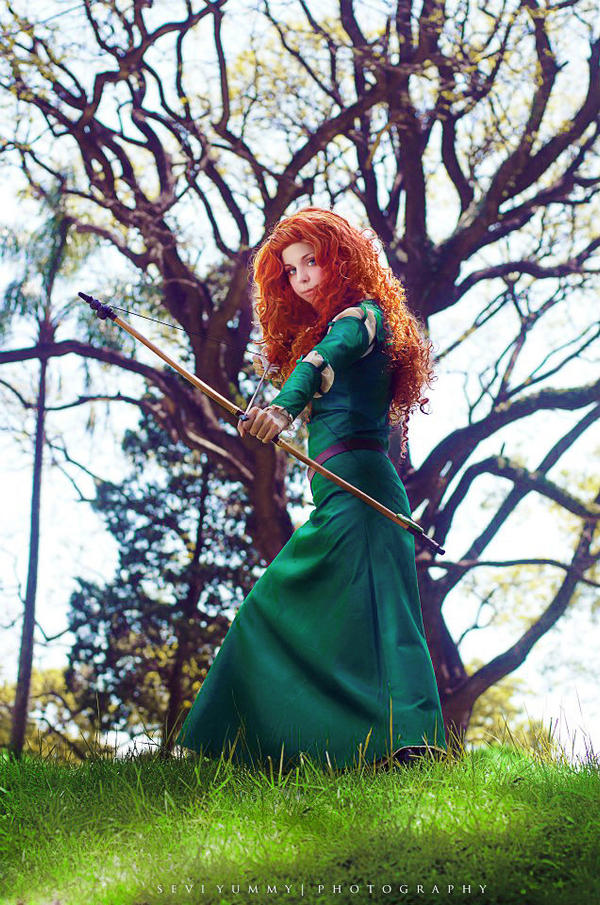 Merida Cosplay: I'll be shooting for my own hand.