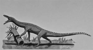 Teleocrater rhadinus by AcroSauroTaurus
