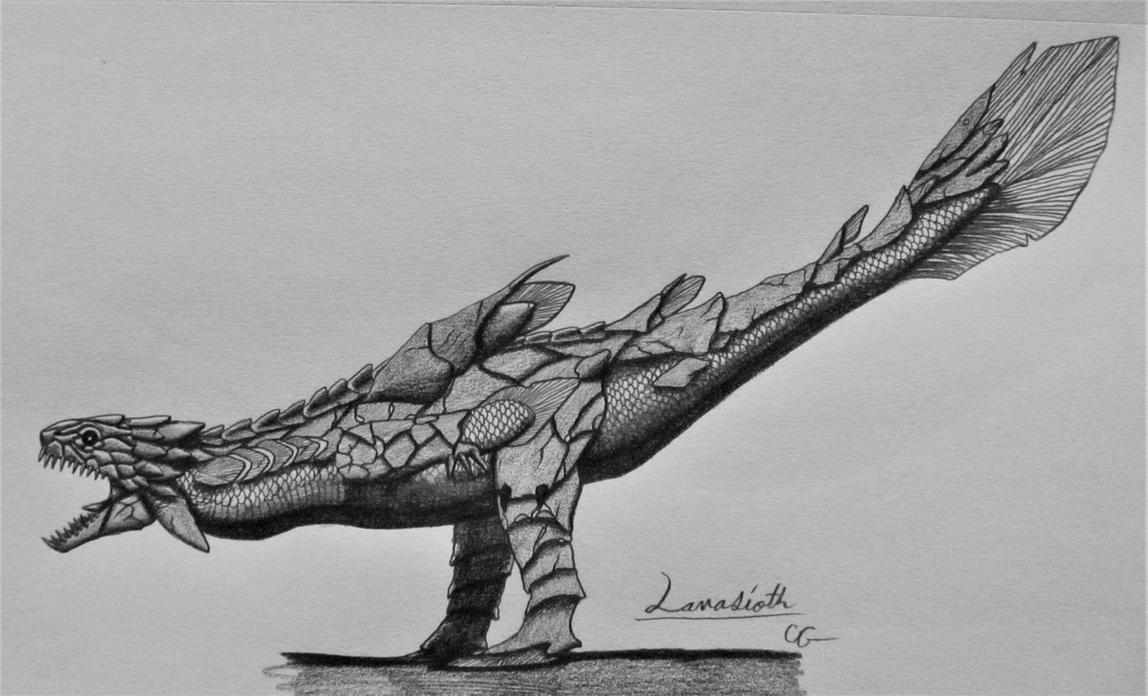 Monster Hunter 2: Lavasioth by AcroSauroTaurus