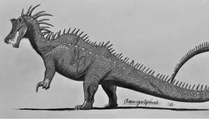 Jurassic Park Hybrids: Amargospinus by AcroSauroTaurus