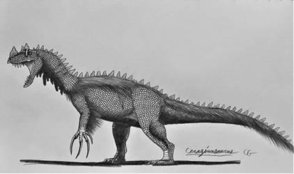 Jurassic World Hybrids: Cerazinosaurus by AcroSauroTaurus