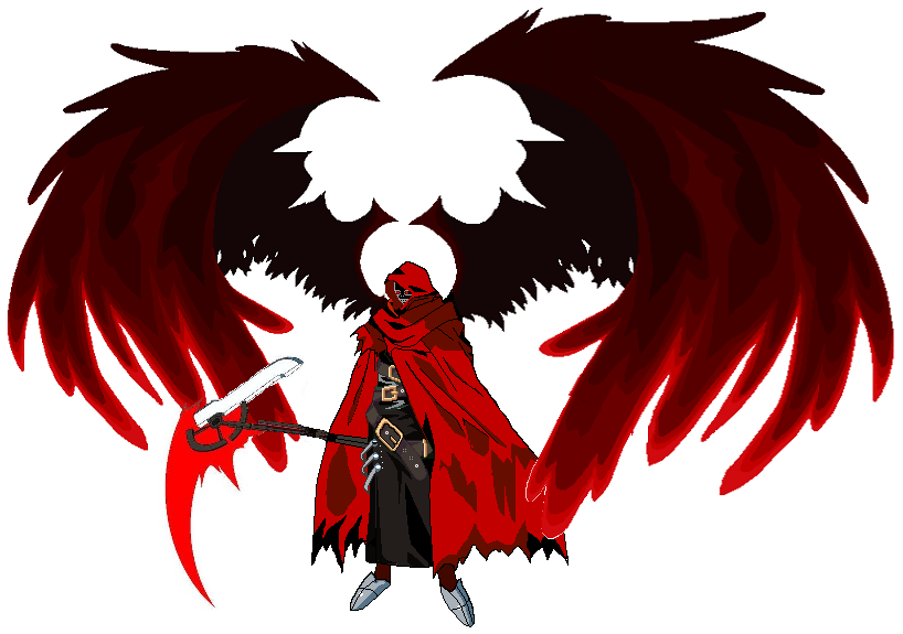 Ragna Grim Reaper Form Version 2 with wings. by Abyss1 on DeviantArt