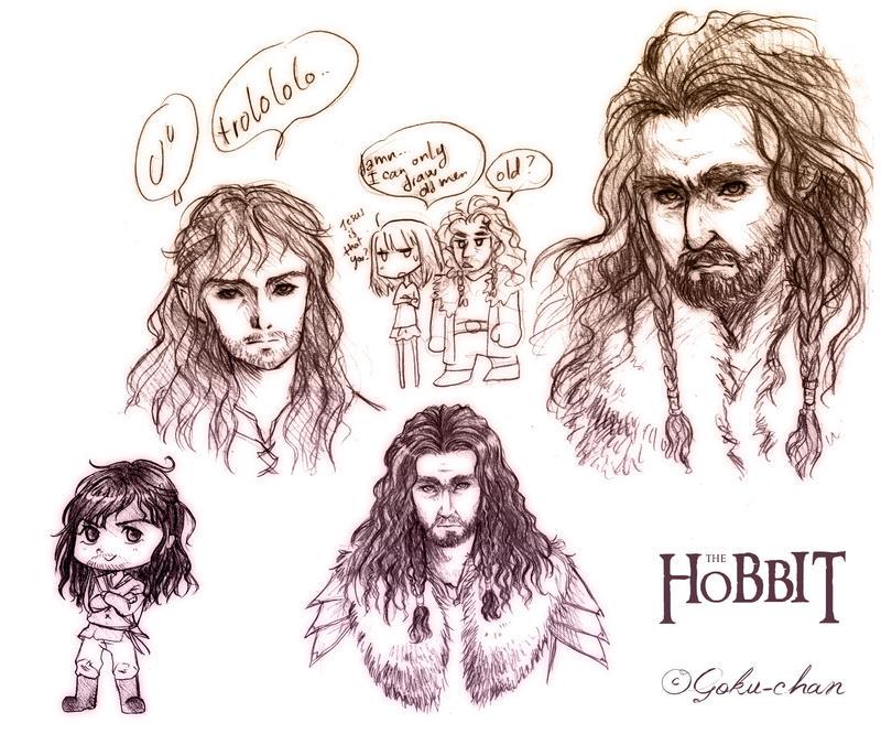 The Hobbit: some dwarfs doods by Goku-chan