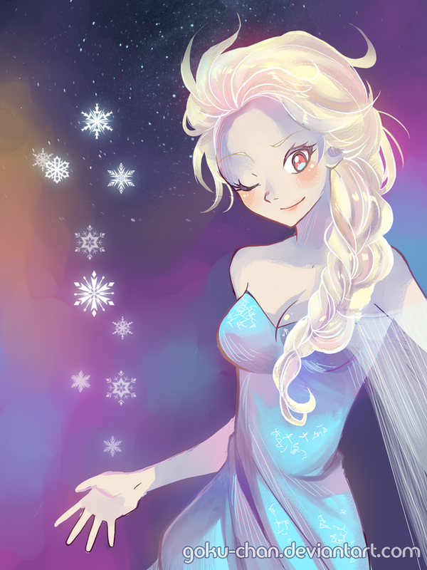 Queen Elsa - Frozen by Goku-chan