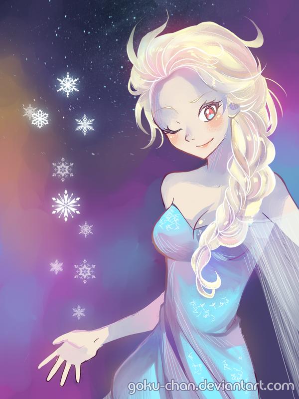 Queen Elsa - Frozen by Goku-chan