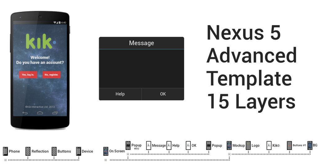 Nexus 5 template advanced by devonix on deviantart for Nexus 5 skin template