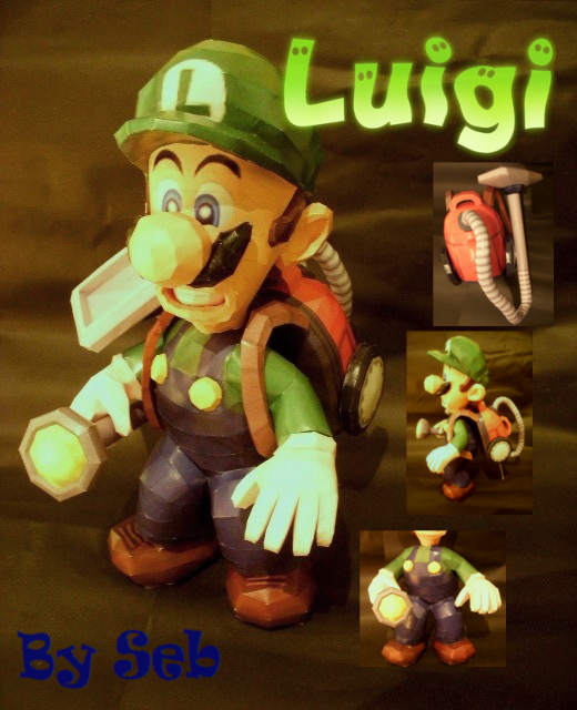 Luigi's Mansion Luigi Papercraft by SebCroc