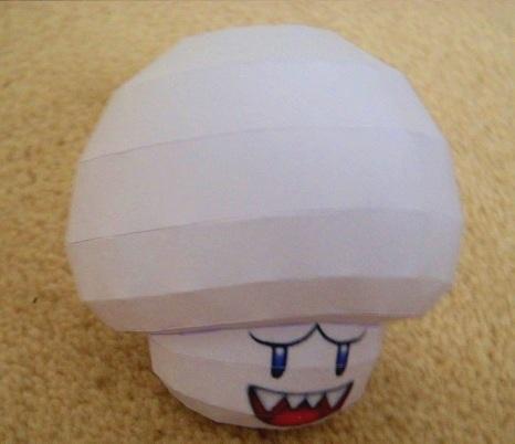 Boo Mushroom Papercraft by SebCroc