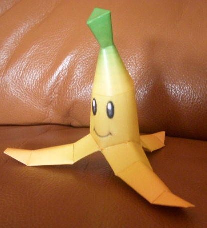 MKDD Banana Peel Papercraft by SebCroc