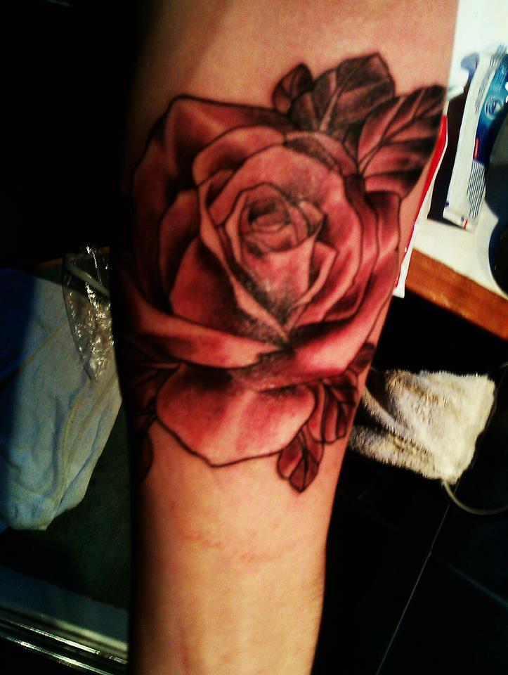 My rose tattoo by Brynios