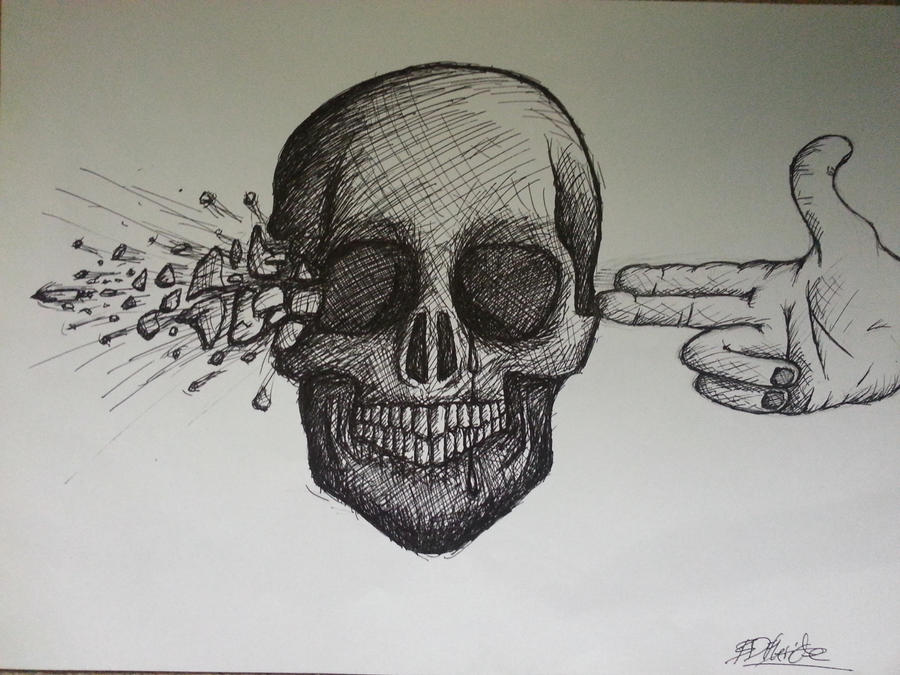 Blow your brains out skull (Better Quality) by Brynios