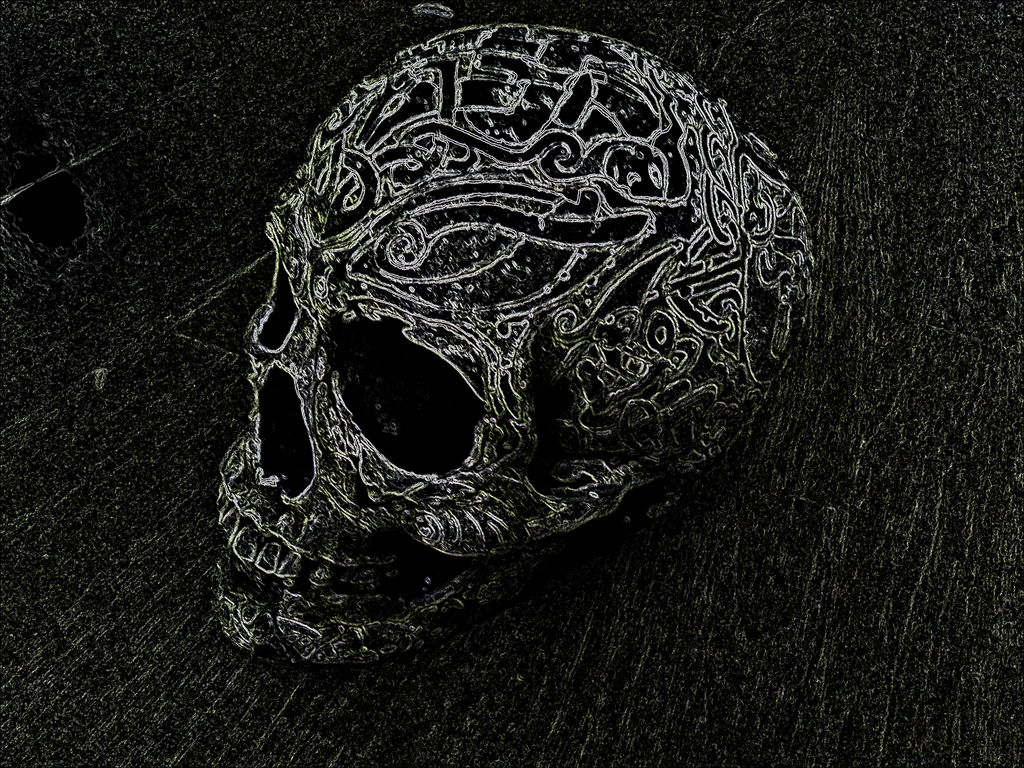 Neon Skull By Brynios On DeviantArt - Cool neon skull desktop backgrounds