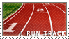 I Run Track Stamp by magickrae