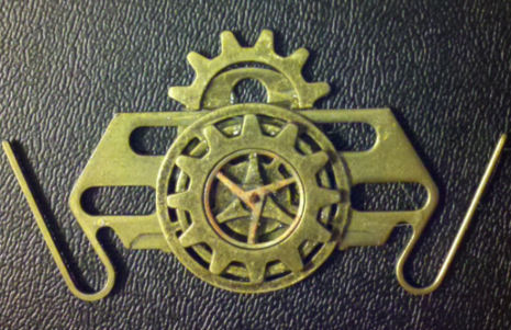 Steampunk Dirigible Command Pin by Ken-Davis