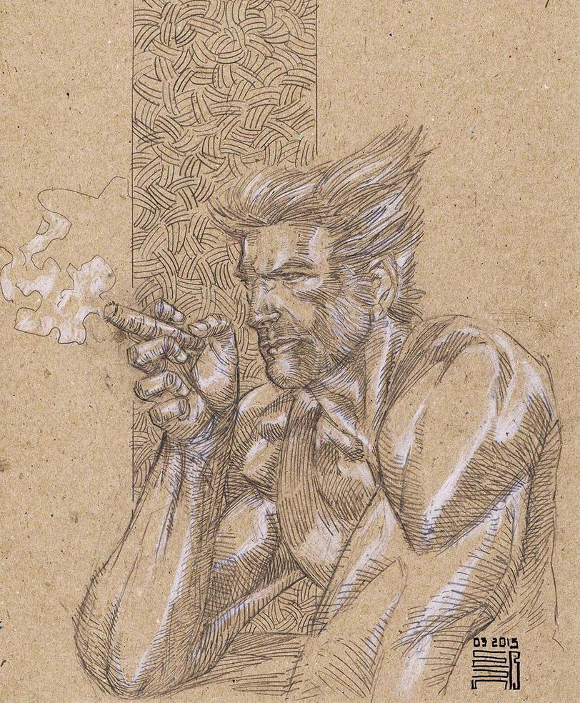 Smoking Logan by agussumantri