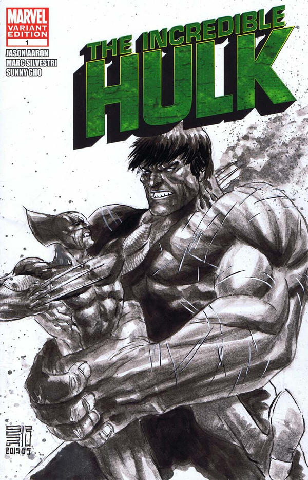 Hulk vs Wolverine by agussumantri