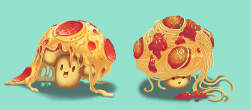 Pizza Pasta Shrooms