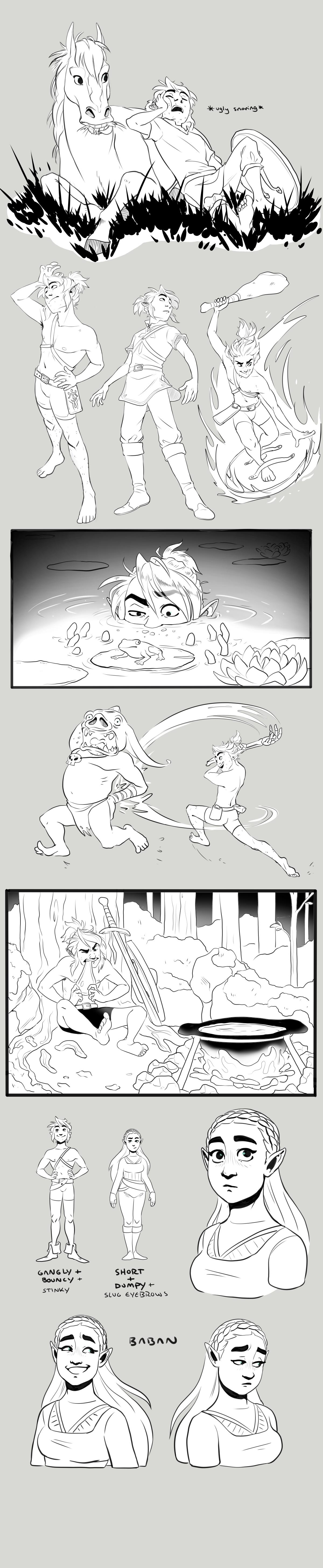 botw sketchdump by BabaKinkin