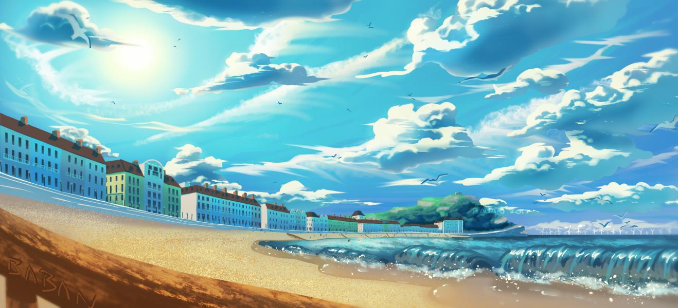 beach test paint by BabaKinkin