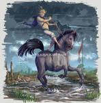 Rainstorm Horse Surfin