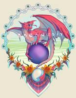 Welsh Dragon Crest by BabanIllustration