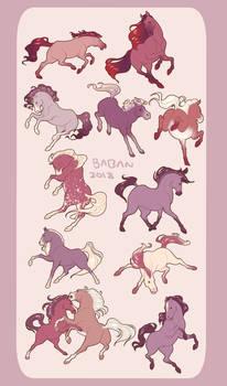 horse sketches 2