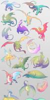Dragon Stickers (+Sticker Pints)
