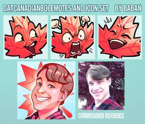 datcanadianboi Emote + Icon Set Commission by BabanIllustration