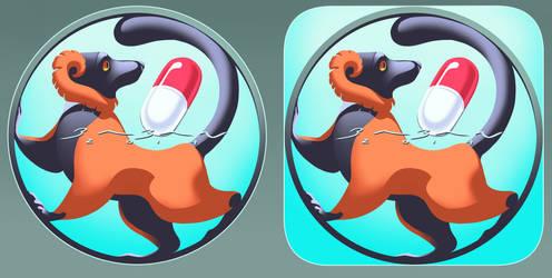 Lemurware Medication Reminder App Icon Commission by BabanIllustration