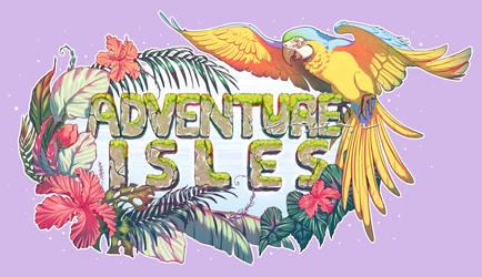 Adventure Isles Logo Commission by BabanIllustration