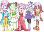 Sonic Girls Waving