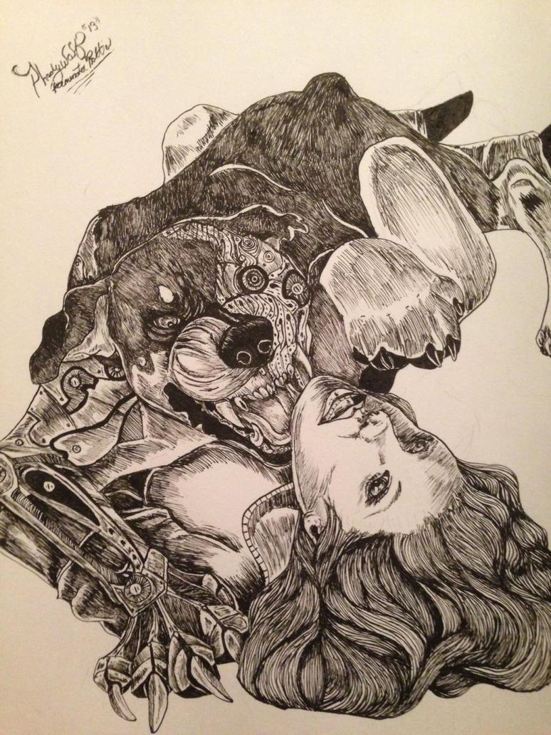 terminator rottie by pladywolf82