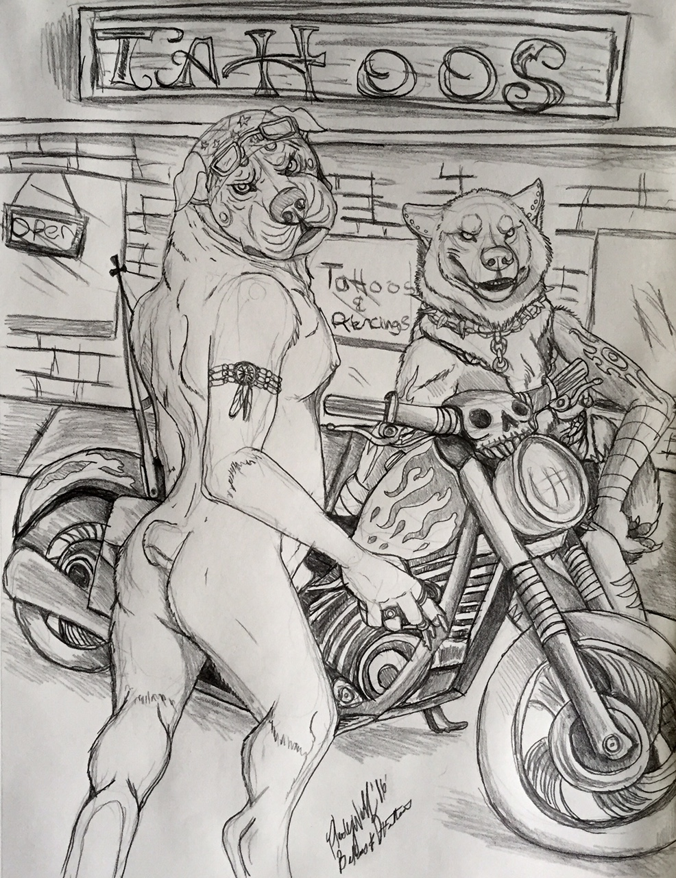 tattoos and bikers by pladywolf82