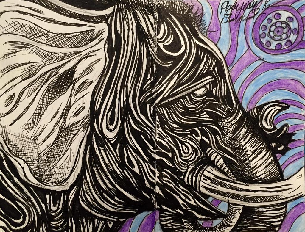 elephant by pladywolf82