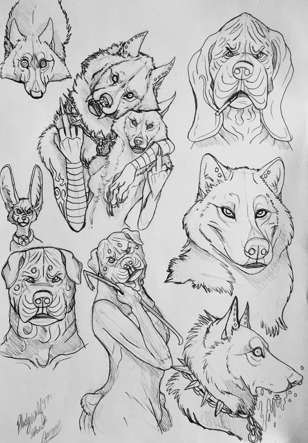 Doodle dump by pladywolf82