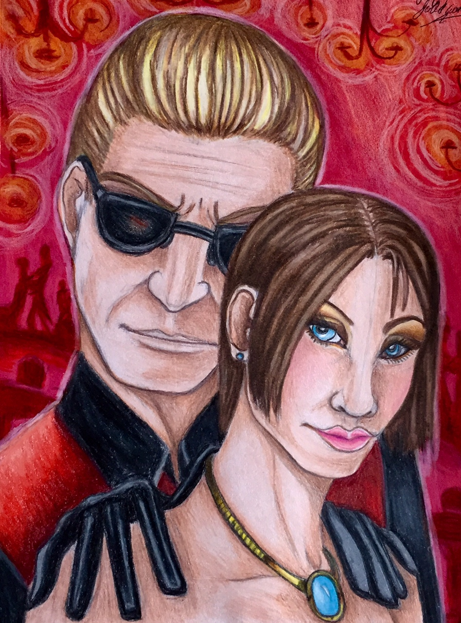 Wesker and jill by pladywolf82