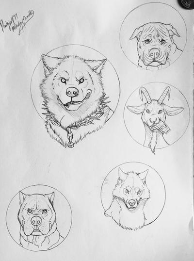 Medallion sketches  by pladywolf82