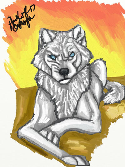 Wolf doodle  by pladywolf82